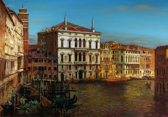 «Венеция. Изгиб Большого Канала. Возвращение рыбаков с острова Лидо»