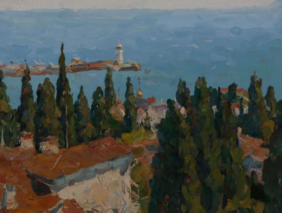Ялта. Вид на маяк с Дарсана