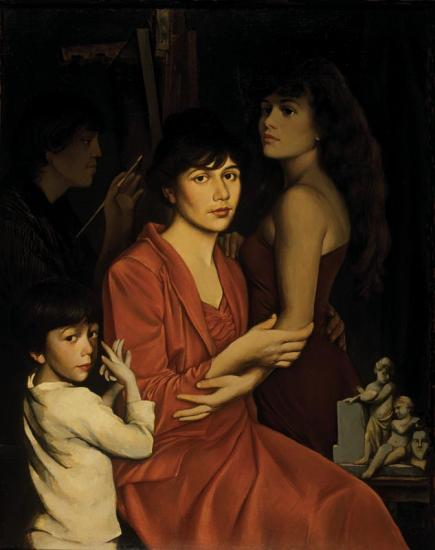 «Семейный портрет в чёрной раме. Мастерская»
