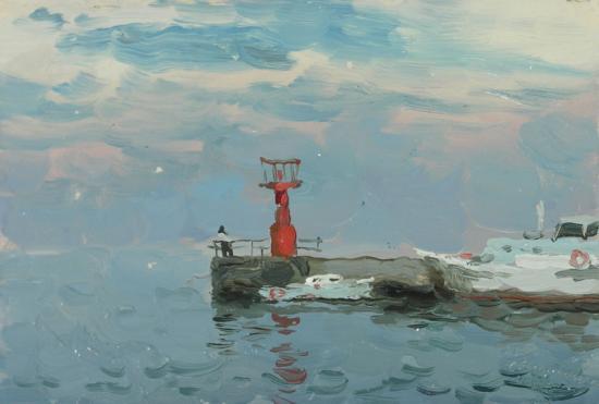 Красный маяк в Ялте.