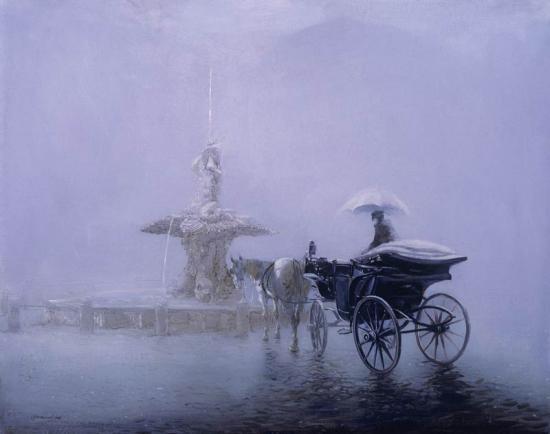 «Дождливый Рим. Площадь Барберини»