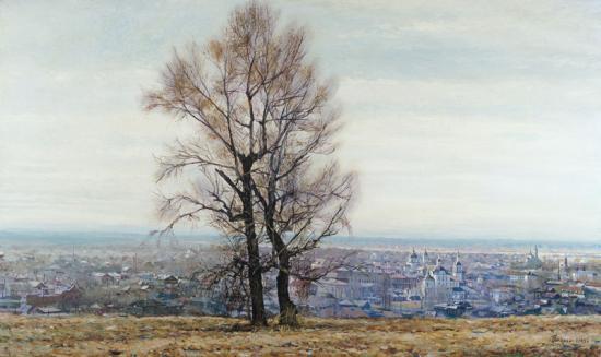 «Два дерева. Вид на Подгорный город древнего Тобольска»