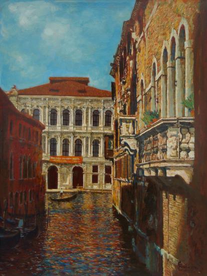 Венеция.Канал с облаками.
