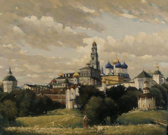 «Загорск. Вид на Троице-Сергиеву лавру»