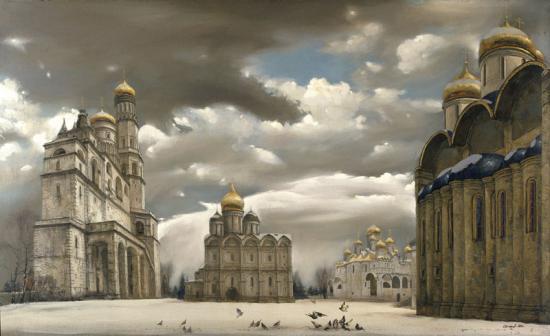«Кремль. Соборная площадь зимой»