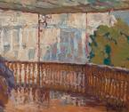 Вид с балкона мастеской на ,,Виллу  Елена